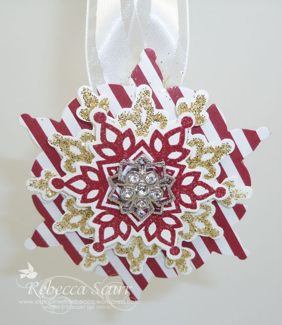 red flurry ornament