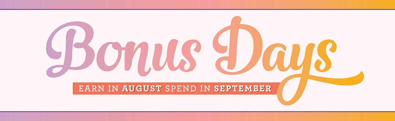 bonus days header